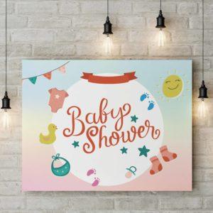 Baby-shower dekoráció